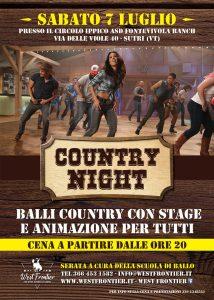 Sabato 7 Luglio – Country Night!