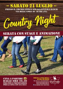 Sabato 21 Luglio – Country Night!