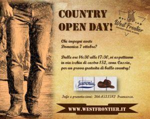 Domenica 7 ottobre, country open day!