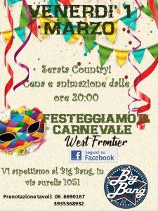 Serata country di Carnevale!