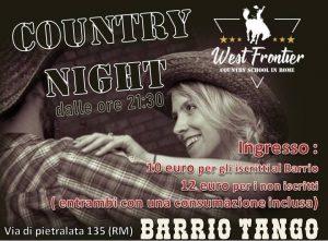 Sabato country al Barrio!